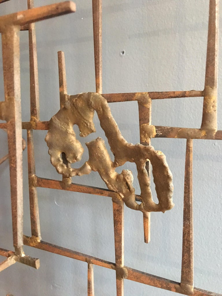 Mid-Century Modern William Bowie Nail Wall Sculpture For Sale