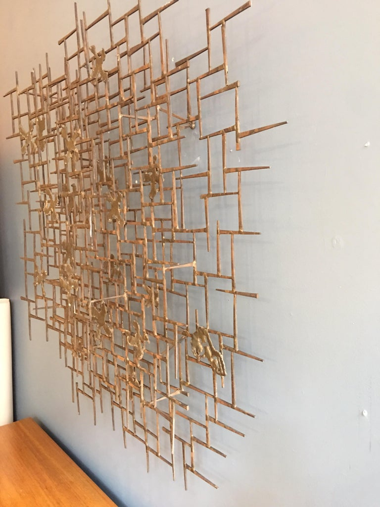 American William Bowie Nail Wall Sculpture For Sale