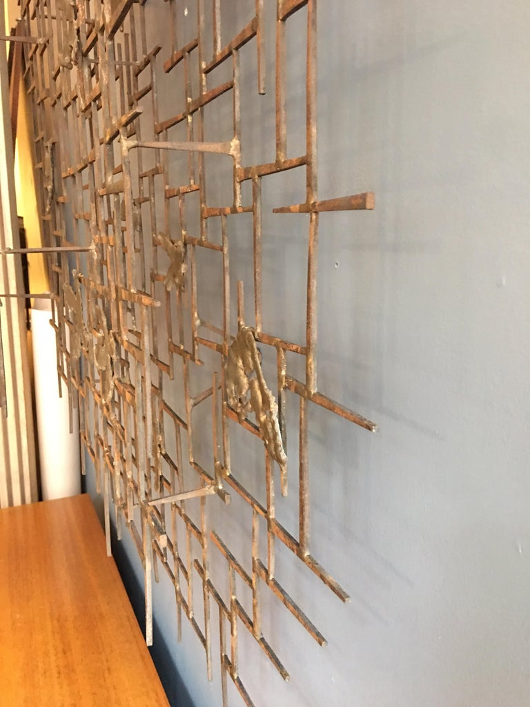 William Bowie Nail Wall Sculpture In Good Condition For Sale In Philadelphia, PA