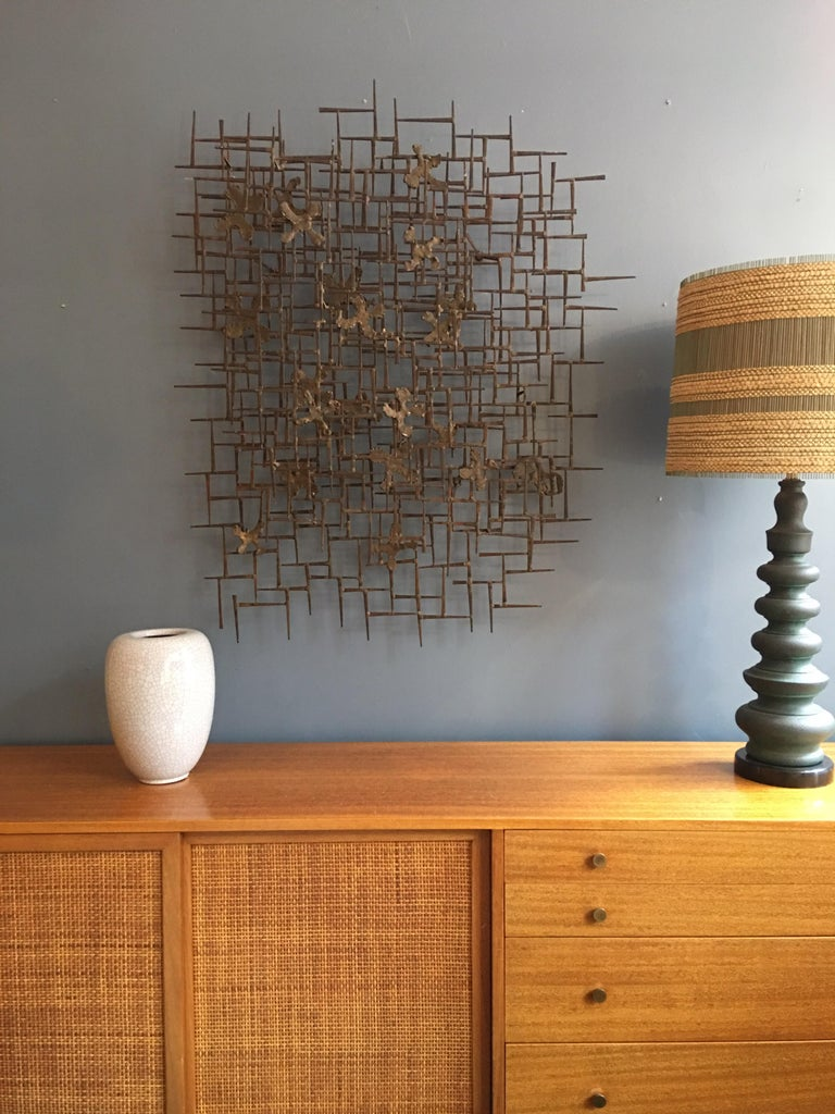 William Bowie Nail Wall Sculpture For Sale 1