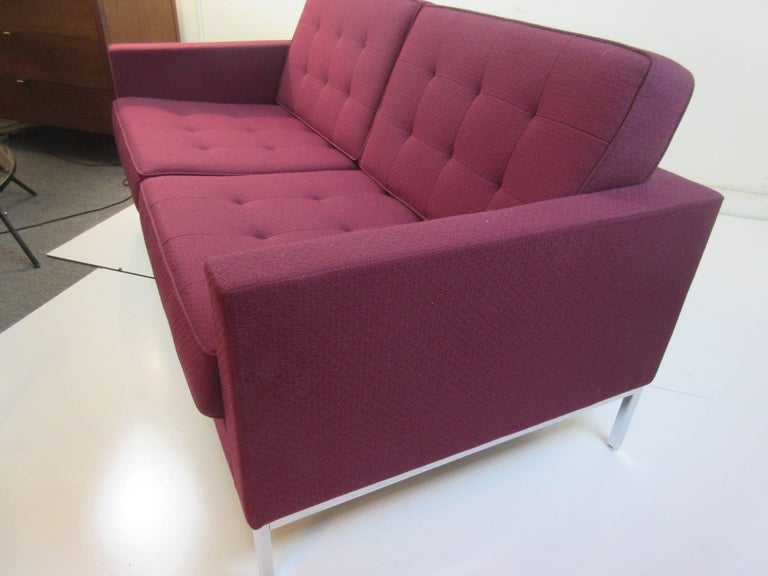 Mid-20th Century Florence Knoll for Knoll Settee For Sale