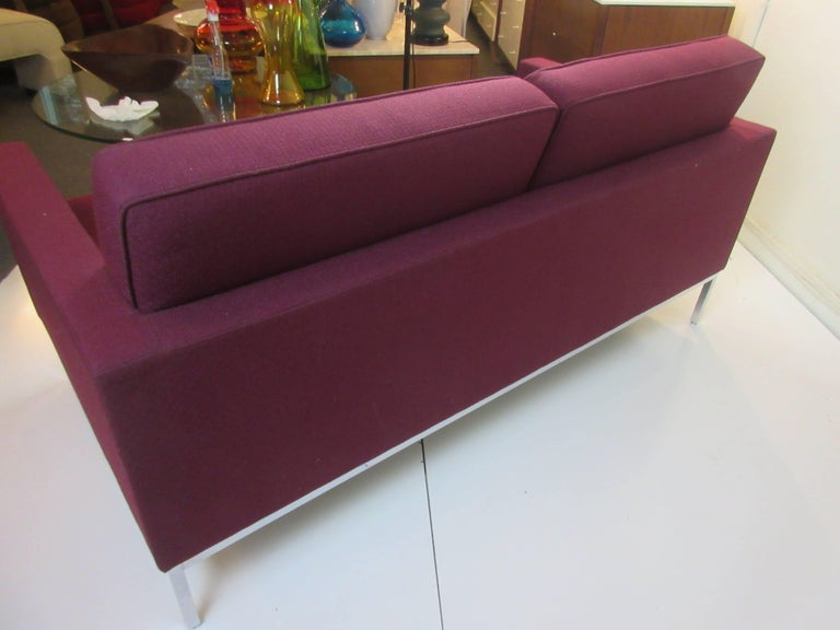 Steel Florence Knoll for Knoll Settee For Sale