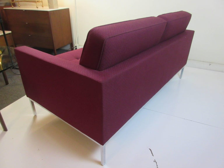 Florence Knoll for Knoll Settee For Sale 1
