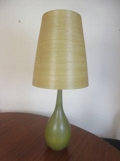 Lotte and Gunnar Bostlund Danish Pottery Lamp Original Shade