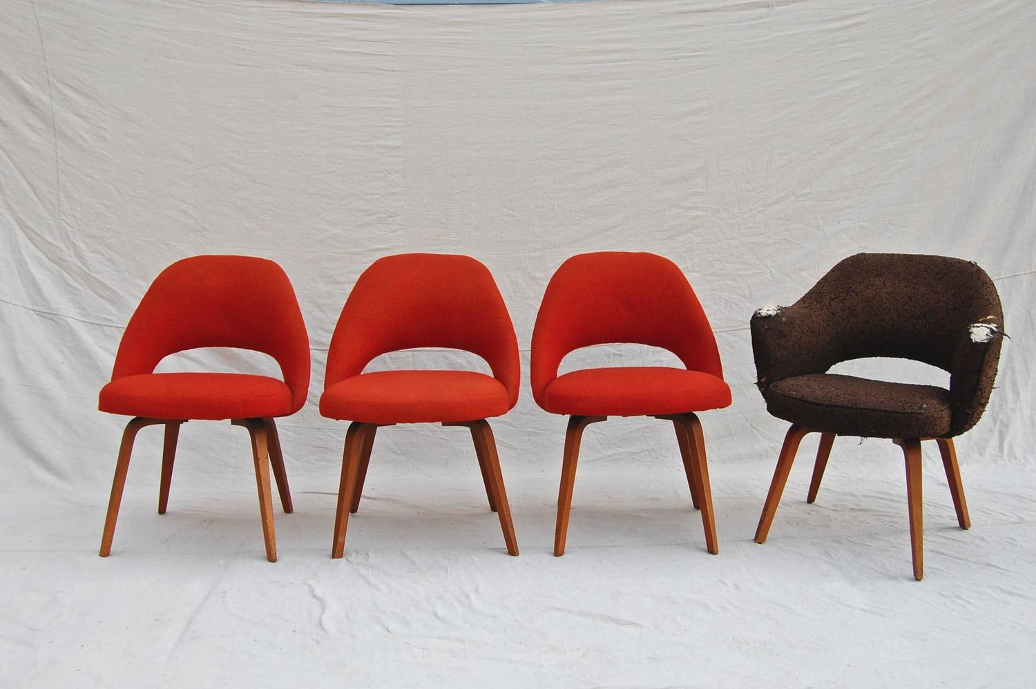 Set of Ten Saarinen for Knoll Executive Dining Chairs