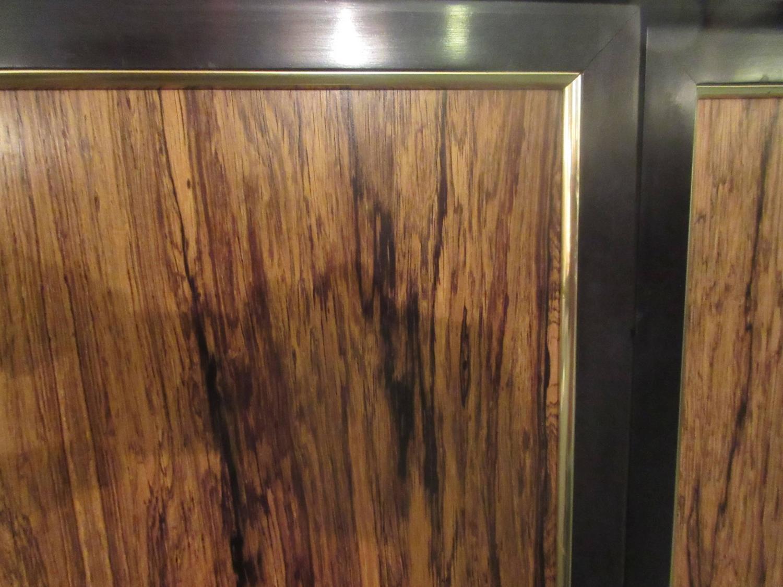 1125 #6C452B Harvey Probber Three Door Rosewood Credenza Or Dresser/ 12 Interior  save image Harvey Doors 43271500