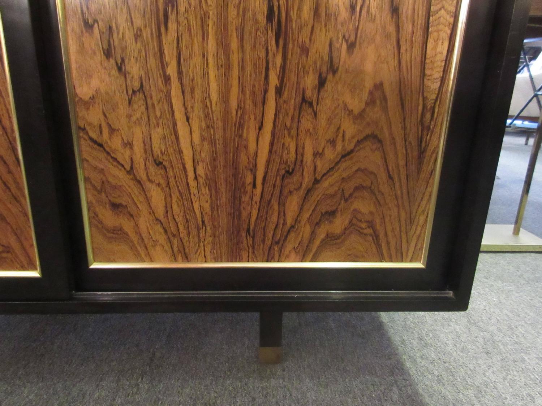 1125 #72462A Harvey Probber Three Door Rosewood Credenza Or Dresser/ 12 Interior  save image Harvey Doors 43271500