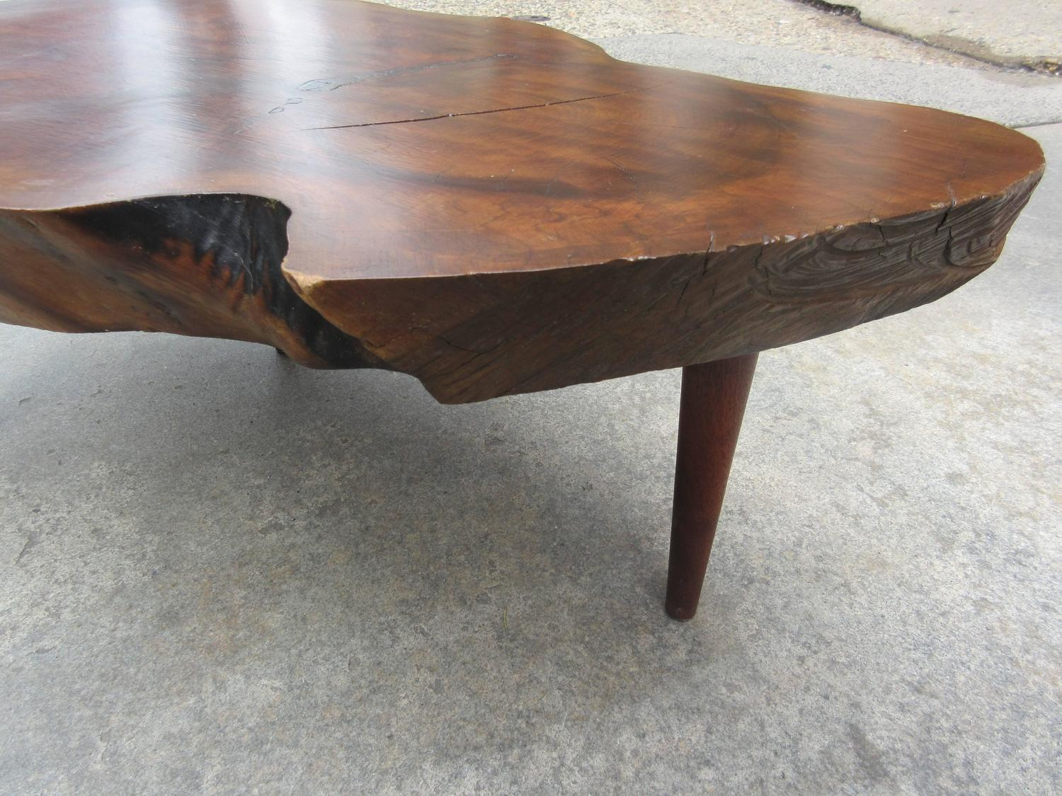 New Hope School Free Form Walnut Coffee Table In The Style Of Phillip Powell At 1stdibs