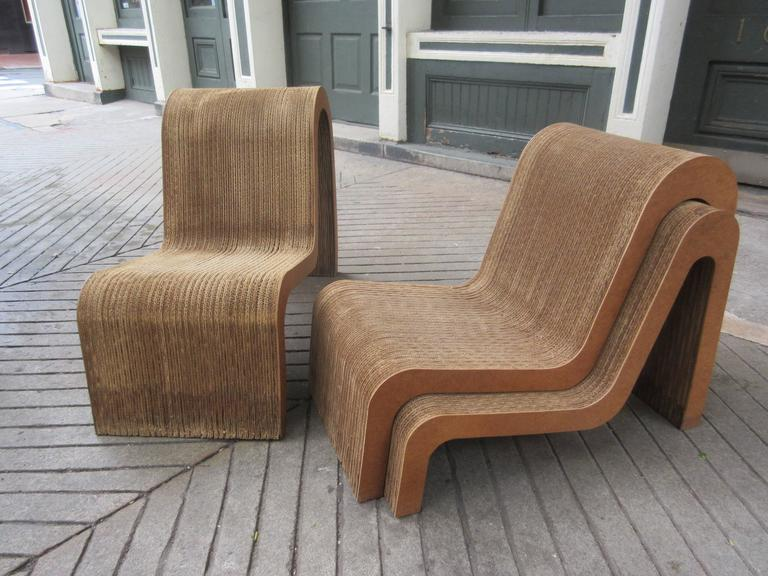rare frank gehry easy edges set of nesting chairs at 1stdibs