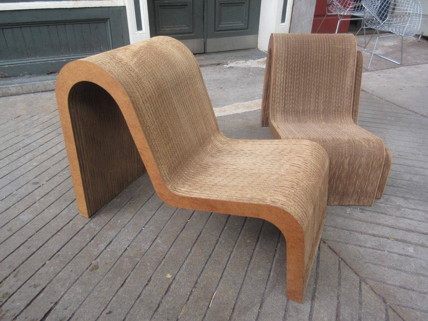 Rare frank gehry easy edges set of nesting chairs at 1stdibs for Z furniture philadelphia