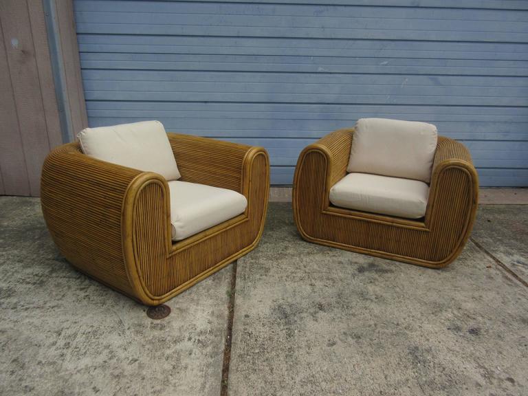 In The Style Of Gabriella Crespi 1970s Bamboo Wicker