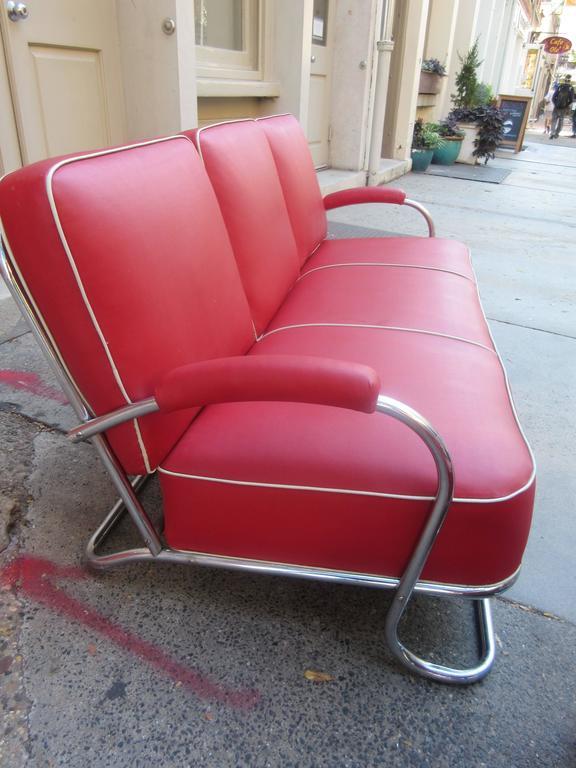 1930s Tubular Chrome Sofa And Chair At 1stdibs