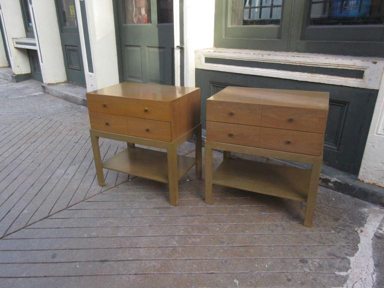 mid-century nightstands in bleached walnutalbert of indiana at Matching Nightstands