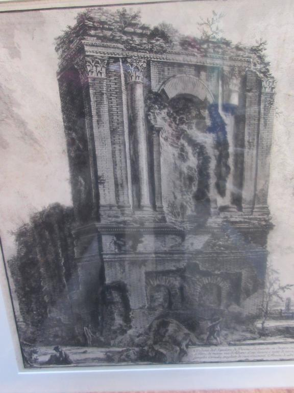 Francesco Piranesi 18th Century Architectural Engraving of Sepotero 5