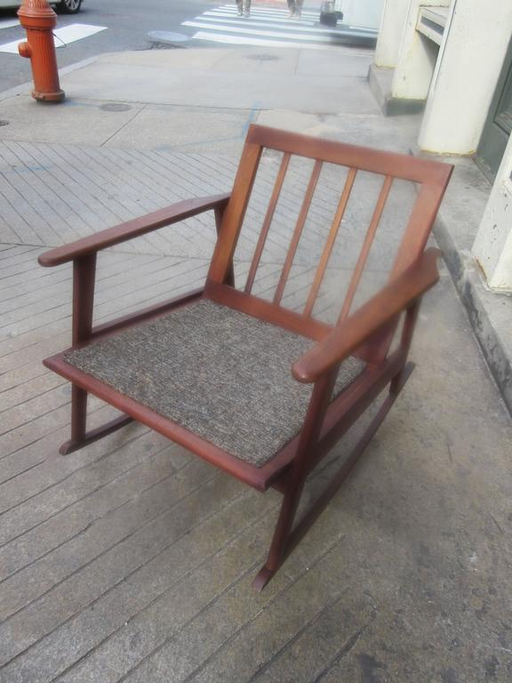Danish Teak Rocker in the Style of Ole Wanscher 5