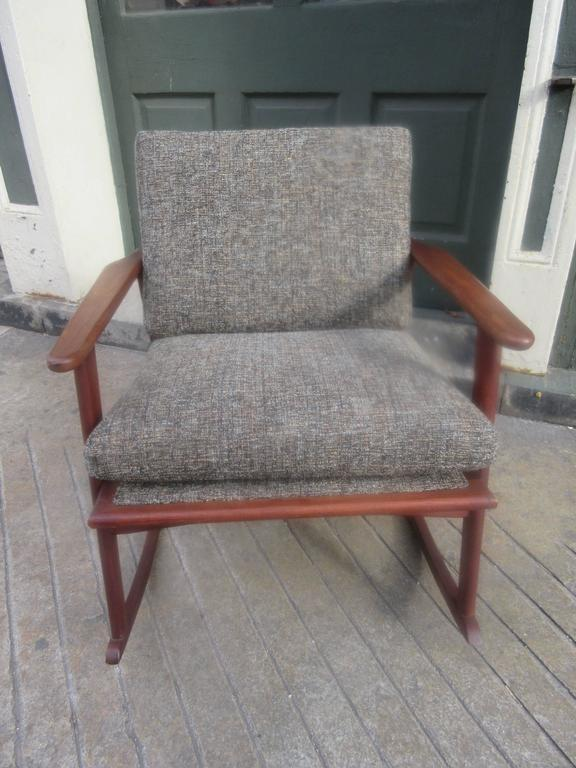 Danish Teak Rocker in the Style of Ole Wanscher 6