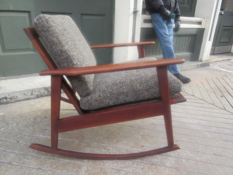 Danish Teak Rocker in the Style of Ole Wanscher 2