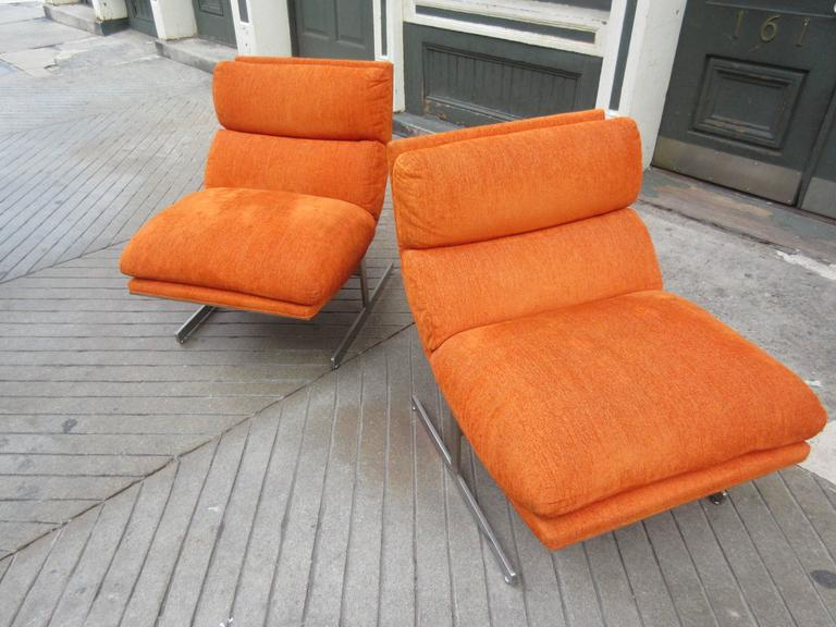 Milo Baughman for Thayer Coggin  pair of Lounge Chairs  5