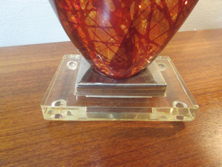 Acrylic/Lucite 1960s Lamp Looking like Amber 5