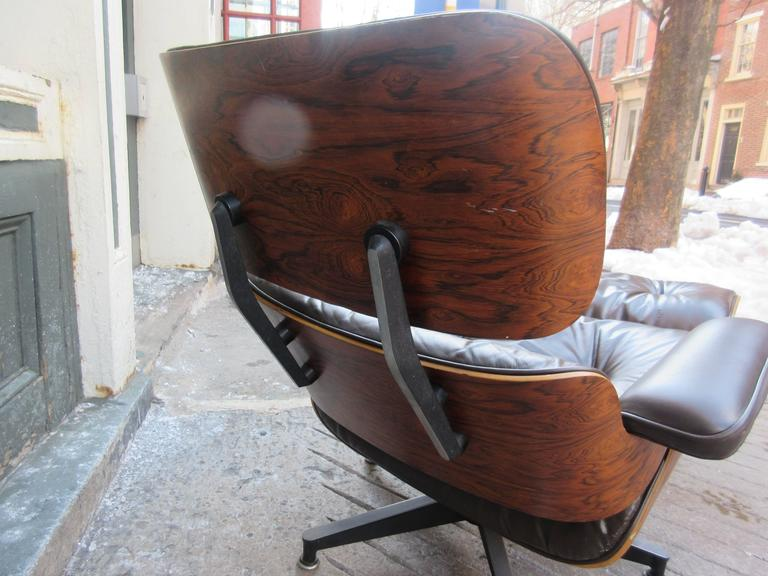 Eames for Herman Miller Rosewood 670 Lounge Chair and Ottoman 3