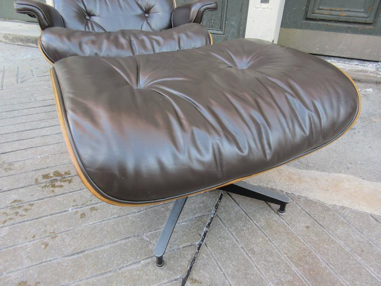 Eames for Herman Miller Rosewood 670 Lounge Chair and Ottoman 6