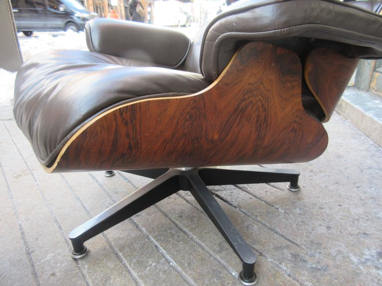 Eames for Herman Miller Rosewood 670 Lounge Chair and Ottoman 7