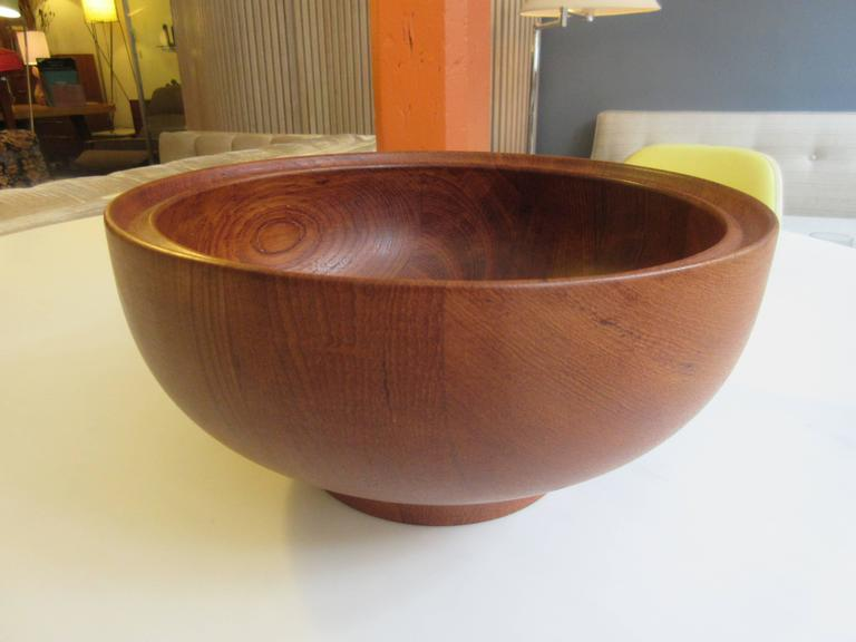 Henning Koppel For Georg Jensen Teak Salad Bowl And Servers In Excellent Condition