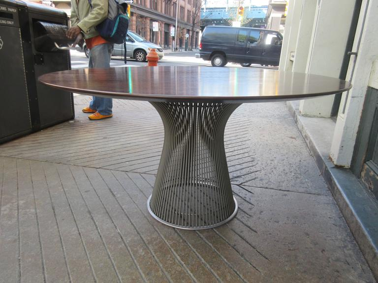 Mid-Century Modern Warren Platner for Knoll Rosewood Dining Table For Sale