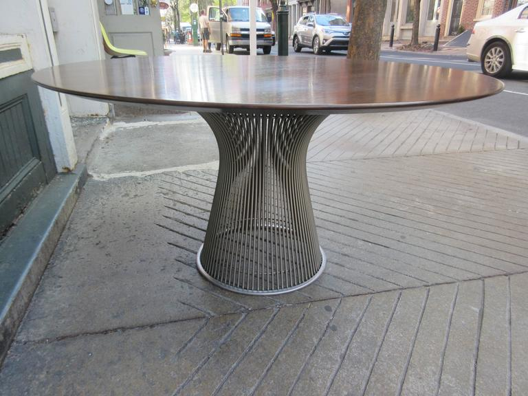 American Warren Platner for Knoll Rosewood Dining Table For Sale
