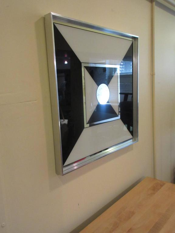 Unique Op-Pop-Art Graphic Mirror by Turner Manufacturing Company at 1stdibs RD31