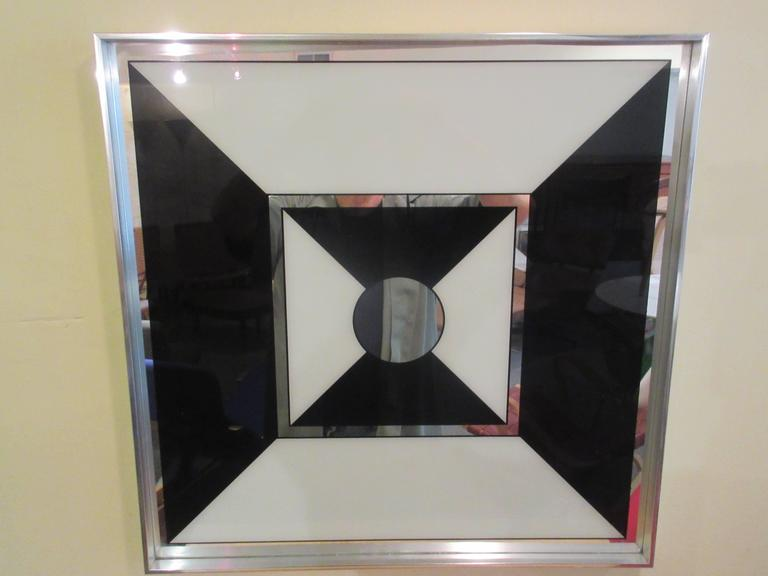 Beautiful Op-Pop-Art Graphic Mirror by Turner Manufacturing Company at 1stdibs YE68