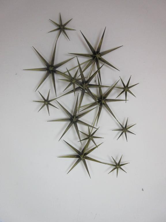 C. Jere Star Wall Sculpture in Burnished Brass 2