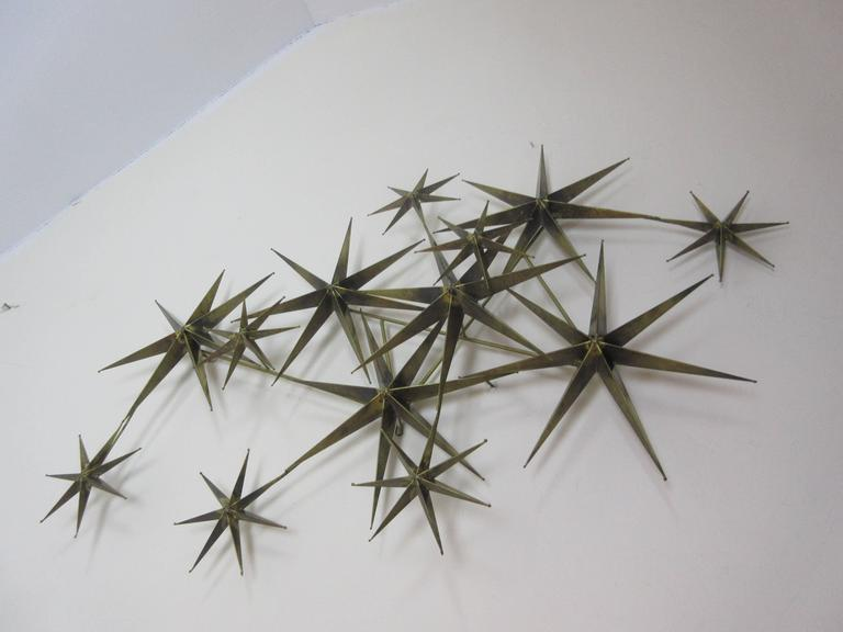 C. Jere Star Wall Sculpture in Burnished Brass 6