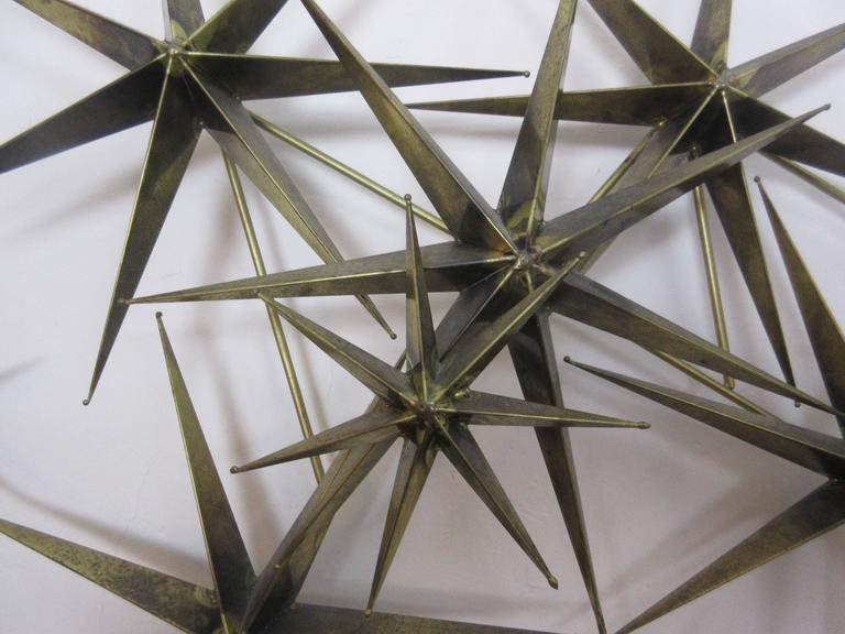 C. Jere Star Wall Sculpture in Burnished Brass 3