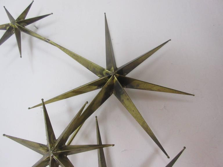 C. Jere Star Wall Sculpture in Burnished Brass 4