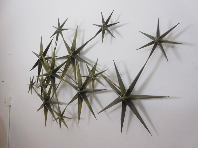 C. Jere Star Wall Sculpture in Burnished Brass 5