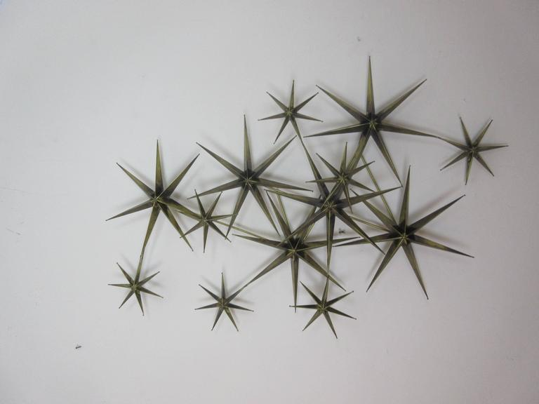 C. Jere Star Wall Sculpture in Burnished Brass 7