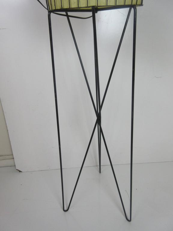 Paul Mayen Lamp in Wrought Iron with Fiberglass Shade 4