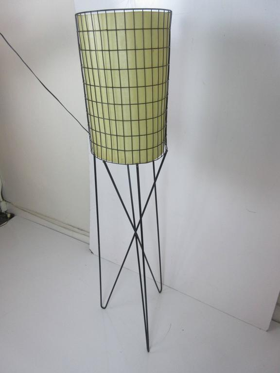 Paul Mayen Lamp in Wrought Iron with Fiberglass Shade 5
