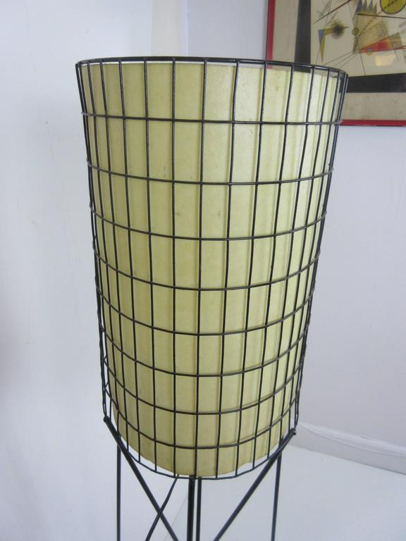 Paul Mayen Lamp in Wrought Iron with Fiberglass Shade 6