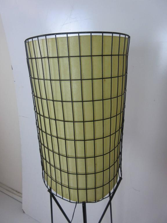 Paul Mayen Lamp in Wrought Iron with Fiberglass Shade 7