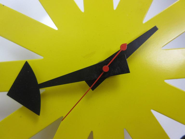 George Nelson Original Yellow Asterisk Clock by Howard Miller 2