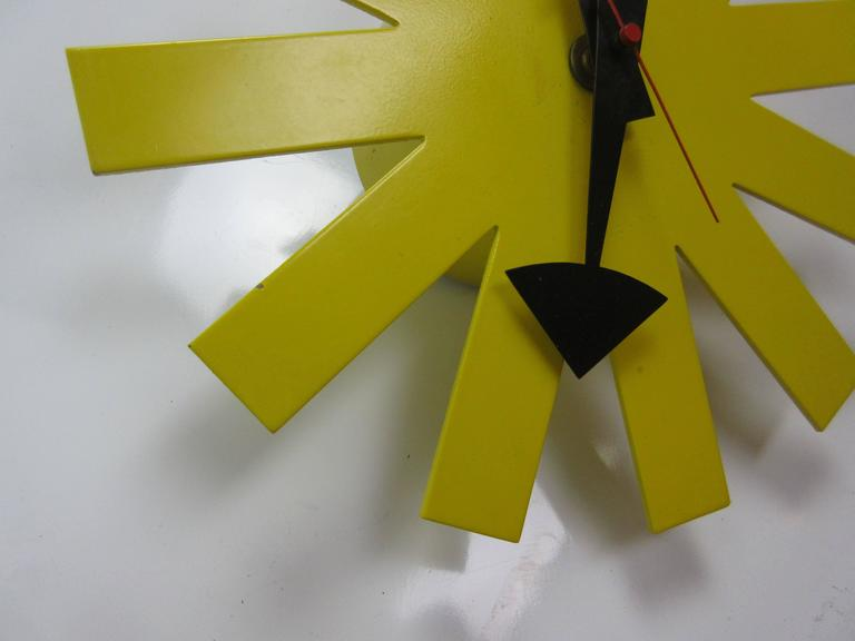 George Nelson Original Yellow Asterisk Clock by Howard Miller 6