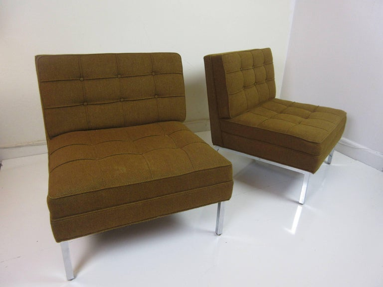 Pair of Slipper Chairs in the Manner of Florence Knoll 2