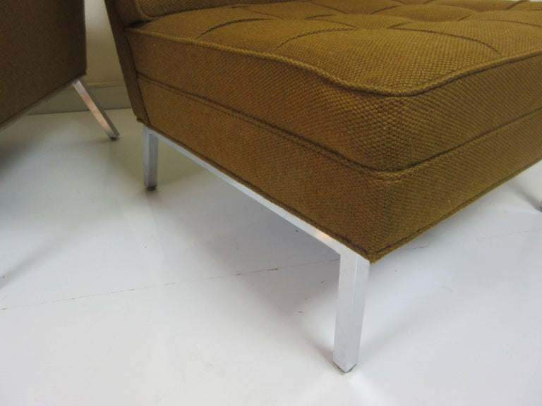 Pair of Slipper Chairs in the Manner of Florence Knoll 4