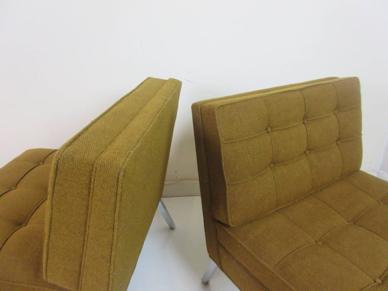 Pair of Slipper Chairs in the Manner of Florence Knoll 6