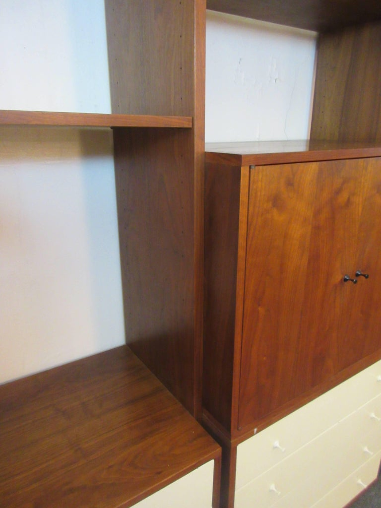 Mid-20th Century Hardwood House Wall or Room-Divider Shelving System For Sale