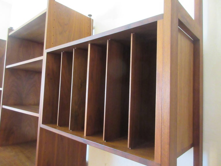Hardwood House Wall or Room-Divider Shelving System For Sale 3