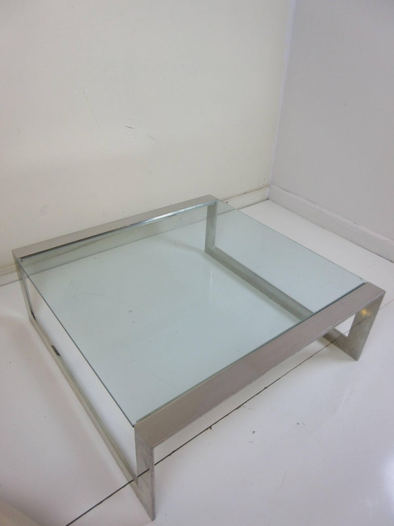 Lee Rosen for Pace Aluminum and Glass Coffee Table 4