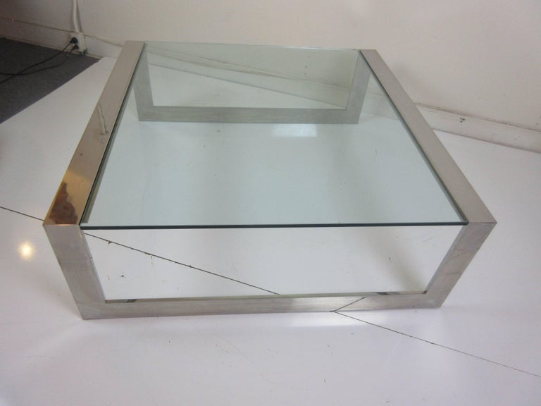 Lee Rosen for Pace Aluminum and Glass Coffee Table 2